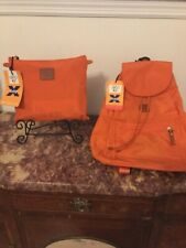 Bric's Matching 18 Inch Duffle Bag AND Backpack Orange NWT Great College Gift