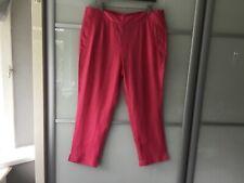 East Capri pants three quarter length hibiscus pink trousers 100% linen size 20