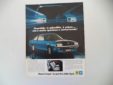 advertising Pubblicità 1976 OPEL MANTA COUPE'