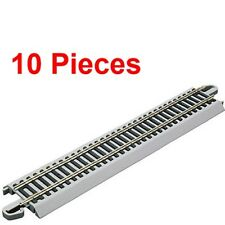 "NEW Bachmann 9"" Staight Nickel Silver E-Z Train Track (10 Pieces) HO Scale BA..."