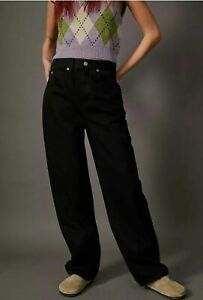 BDG Urban Outfitters Straight Leg Modern Boyfriend Jeans Black W29 L32 £55 BNWT
