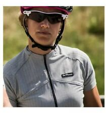 De Marchi Italy Black Herringbone Short Sleeve Cycling Jersey Women's Size Small