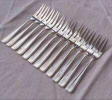 12 fourchettes à crustacés en métal argenté modèle années 50