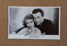 Robert Taylor & Loretta Young  P25 Film Partners Real Photo Postcard xc2