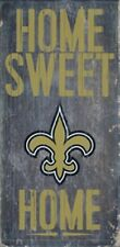 """New Orleans Saints Home Sweet Home Wood Sign 12"""" x 6"""" -NEW NFL Man Cave Den Wall"""