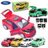 1:32 Ford Focus Shelby ST Model Diecast Kids Pull Back Car Decor LED Sound Toy