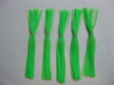5 Silicone Skirt Lime 5-67 spinner bait bass lure blade jig fishing musky