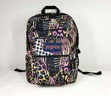 JanSport Backpack Big Student  Large Book bag Black Animal Frenzy