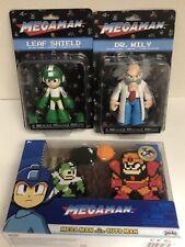 mega man action figure Bundle Dr Willy And Mega Man Vs Guts Man, Leaf Shield Lot