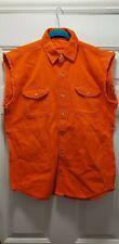 Orange sleeveless biker shirts SIZE SMALL