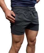 PLAIN COTTON GYM SHORTS BODYBUILDING TRAINING RUNNING SHORTS CAMO FASHION SPORT