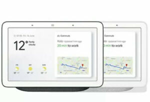 "Google Home Hub Hands-Free Smart Speaker with 7"" Screen, Charcoal, Chalk"