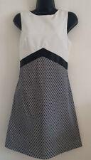 EXMiss Self 8-12 Mono Jacquard Colourblock Diamond Print Smart Formal Midi Dress