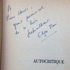 rare EO SP ENVOI dédicace+L.A.S 1959 EDGAR MORIN: AUTOCRITIQUE (PIERRE HERVÉ)
