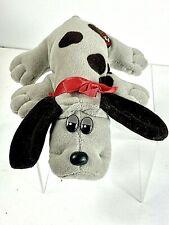 """Vintage 1985 POUND PUPPY Newborn Gray Brown Spots Bow Collar 8"""""""