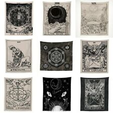 Room Decor Tapestry Polyester Wall Hanging Tarot Card Pattern Blanket Cloth Mat
