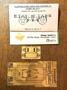 Compensated Wooden Solebar Wagon Underframe ETCH BRASS KIT - OO