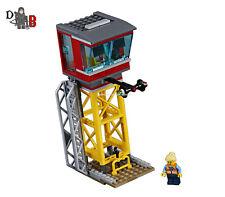 Lego City Cargo train 60198 niveau Passage avec 3 droit Piste seulement