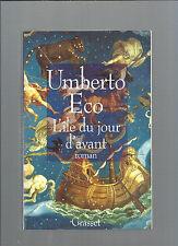 L'île Du Jour D'avant Umberto Eco Grasset & Fasquelle ref E21