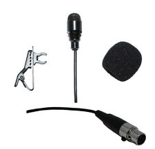 Lavalier Lapel Mic with mini 4 pin Xlr Ta4F Connector for Shure Wireless