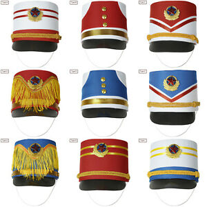 1x Children Drum Band Hat Contrast Color Stage Performance Cosplay Cap Decor