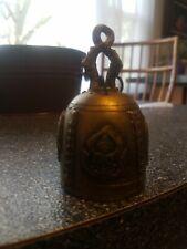3.5  Chinese Tibetan Buddhism Bronze Kwan-yin Guan Yin Small Bell 3 dragon handl