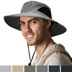 Outdoor Hiking Fishing Hat Summer Sun Protection Wide Brim Boonie Shade 50+ UPF