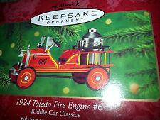 2000 HALLMARK Keepsake 1924 TOLEDO FIRE ENGINE #6 Christmas Ornament KIDDIE CAR