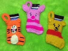 KNITTING PATTERN- Winnie the Pooh inspired Christmas 8 cms stocking decoration