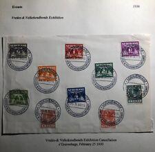 1930 The Hague Netherlands Cover Volkekendbonds Exhibition Cancel