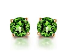 18k White Gold GP Green Silver Earring Crystal Zircon Lady Earrings Stud