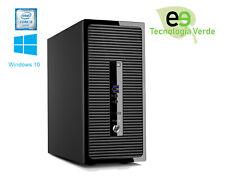 HP Prodesk 400 G3 MT Intel i3-6100 3.7 Ghz 4 Gb 500 Gb DVD-Rw W10