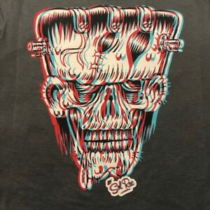 3D FRANKIE - GUYS T-SHIRT - ROCKABILLY FRANKENSTEIN HORROR GOTH PUNK MONSTER