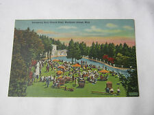 GRAND HOTEL MACKINAC MICH SWIMMING POOL VINTAGE POSTCARD      T*