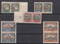 BW6869/ ESTONIA – MI # 63 / 67 COMPLETE USED PAIRS – CV 145 $