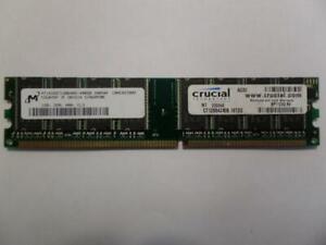 Micron/Crucial 1GB PC3200 CL3 DDR UDIMM MT16VDDT12864AG-40BDB CT12864Z40B.16TD2