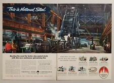 1954 Print Ad National Steel Corporation Plant Pittsburgh,PA