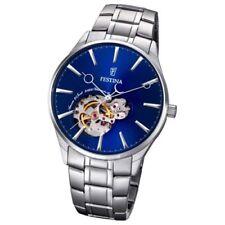 Relojes de pulsera Automatic plata resistente al agua