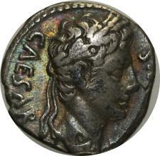S751 Octavian Augustus 27-14 Denier Caesaraugusta Caesar DIVVS IVLIVS Silver