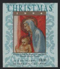 Australia 1994 $8 Christmas Booklet Sc# 1392a Nh