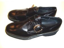 New Men's Vintage Morgan Quinn 8 1/2 C Black Monk Strap Made In USA Shoes