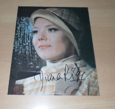 Diana Rigg *James Bond*, original signed Photo in 20x25 cm (8x10)