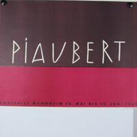 Piaubert Jean 1960 Kunsthalle Mannheim Austellung 60er Jahre altes Plakat alt