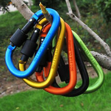 Aluminum Carabiner Chain Clip Outdoor Activity Camping Fishing Hiking Travel Key