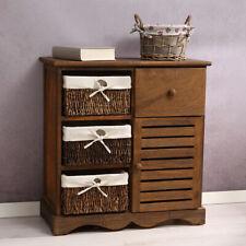 Schrank Kommode Vintage braun mit Körben + Schublade Regal Flur Highboard Diele