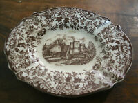 Posacenere Ceramica Inglese OLD BRITAIN CASTLES AUR 9x12 cm