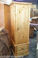 HAND MADE LIMITED OFFER NARROW PINE 1 DOOR + 2 DRAWER WARDROBE (NO FLAT PACKS)