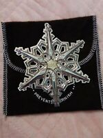 """1983 Gorham Sterling Silver Annual Christmas Snowflake Ornament 3.25"""" w/Pouch"""