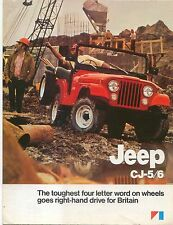 AMC Jeep CJ 1974-75 pour CJ-5 Modèles CJ-6 ORIGINAL UK sales brochure