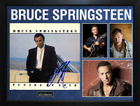 Bruce Springsteen Signed Tunnel Album Cover Display AFTAL UACC RD COA PSA